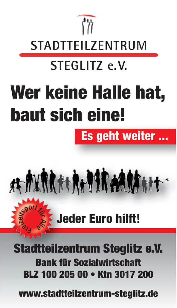 Wer keine Halle hat, baut sich eine! › Stadtteilzentrum Steglitz e.V.