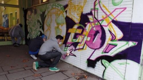 Graffitiprojekt an der 10.ISS