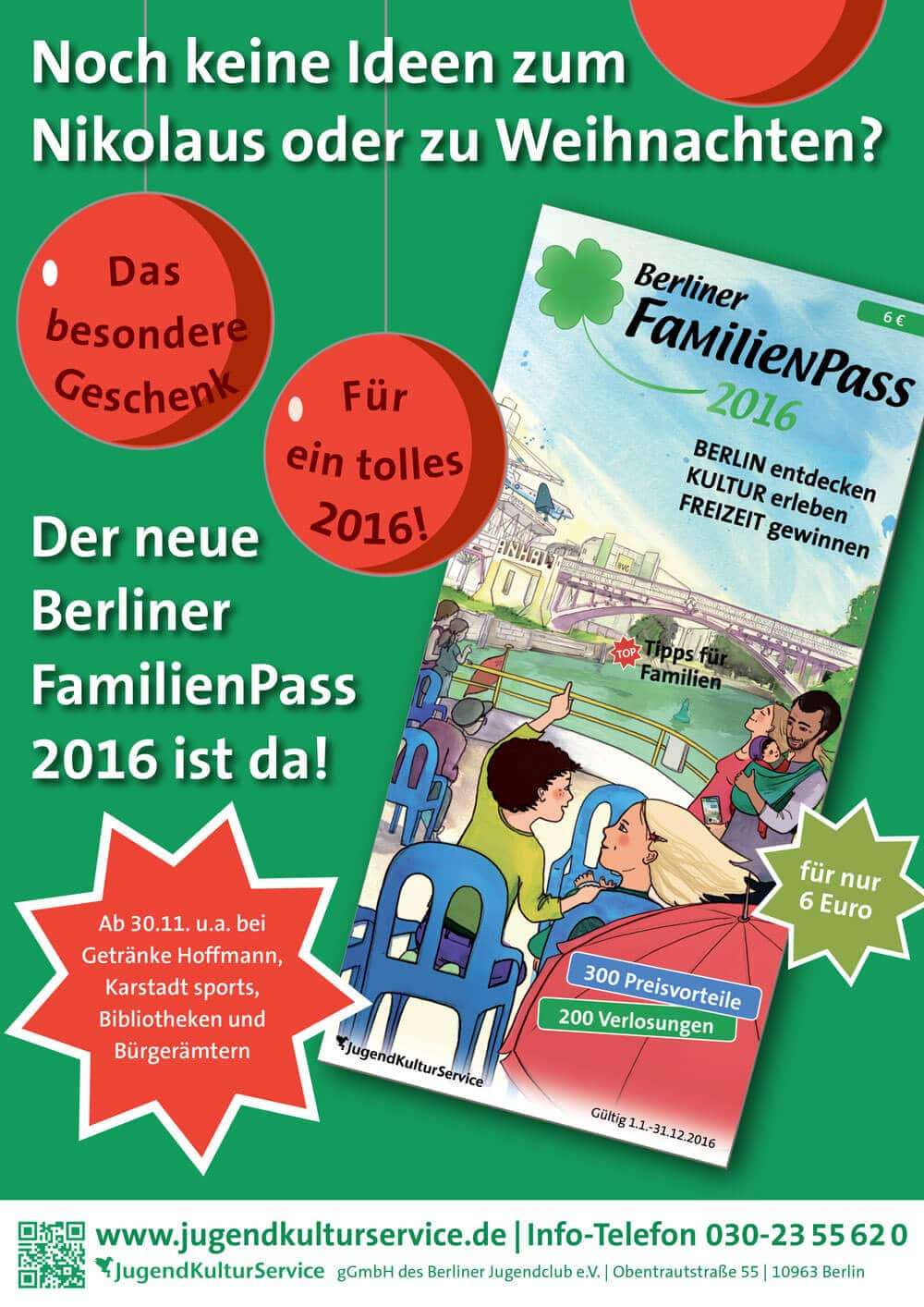Der neue Berliner FamilienPass 2016 › Stadtteilzentrum Steglitz e.V.