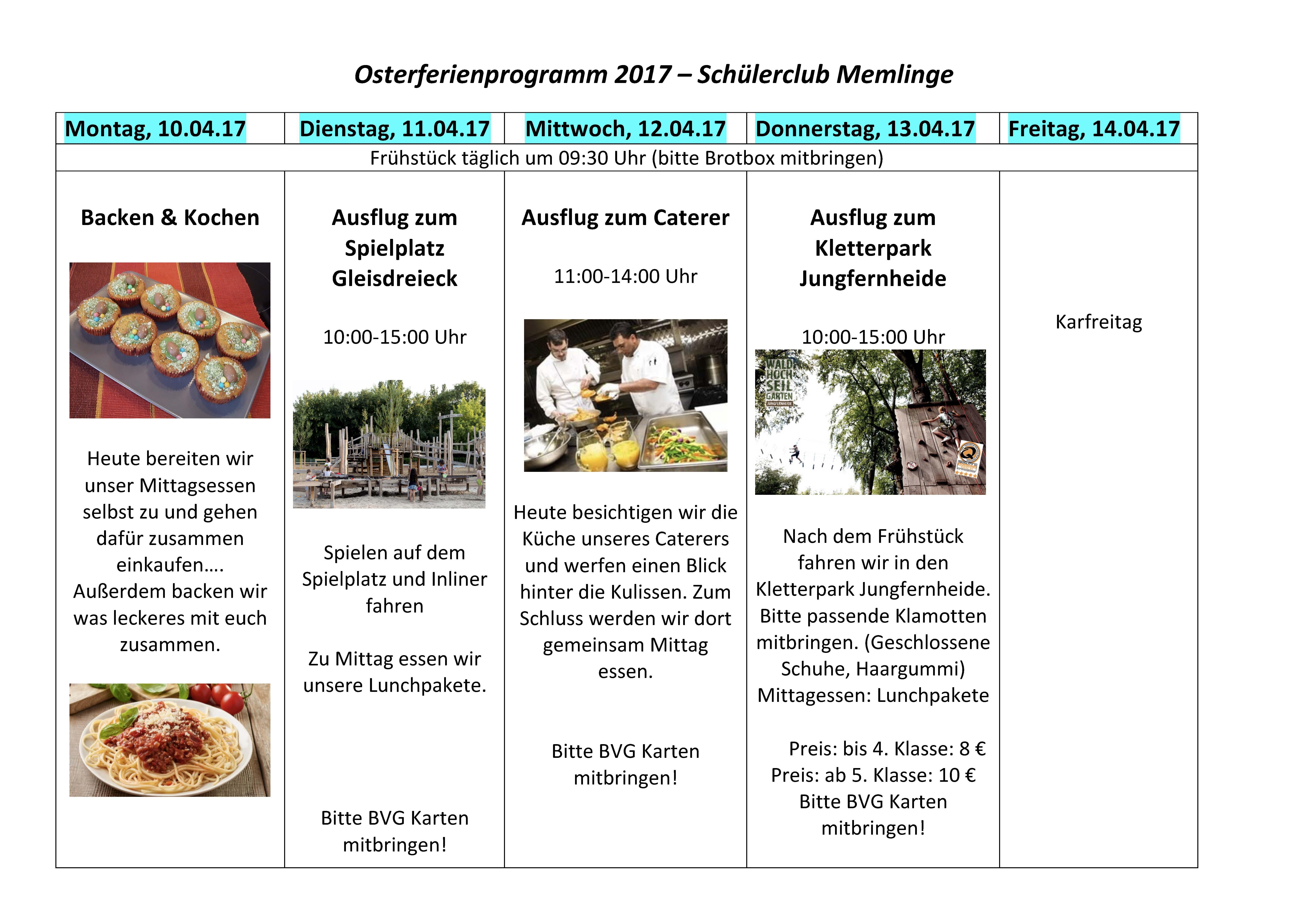 Osterferien und viele Angebote – Memlinge aktiv! :-)
