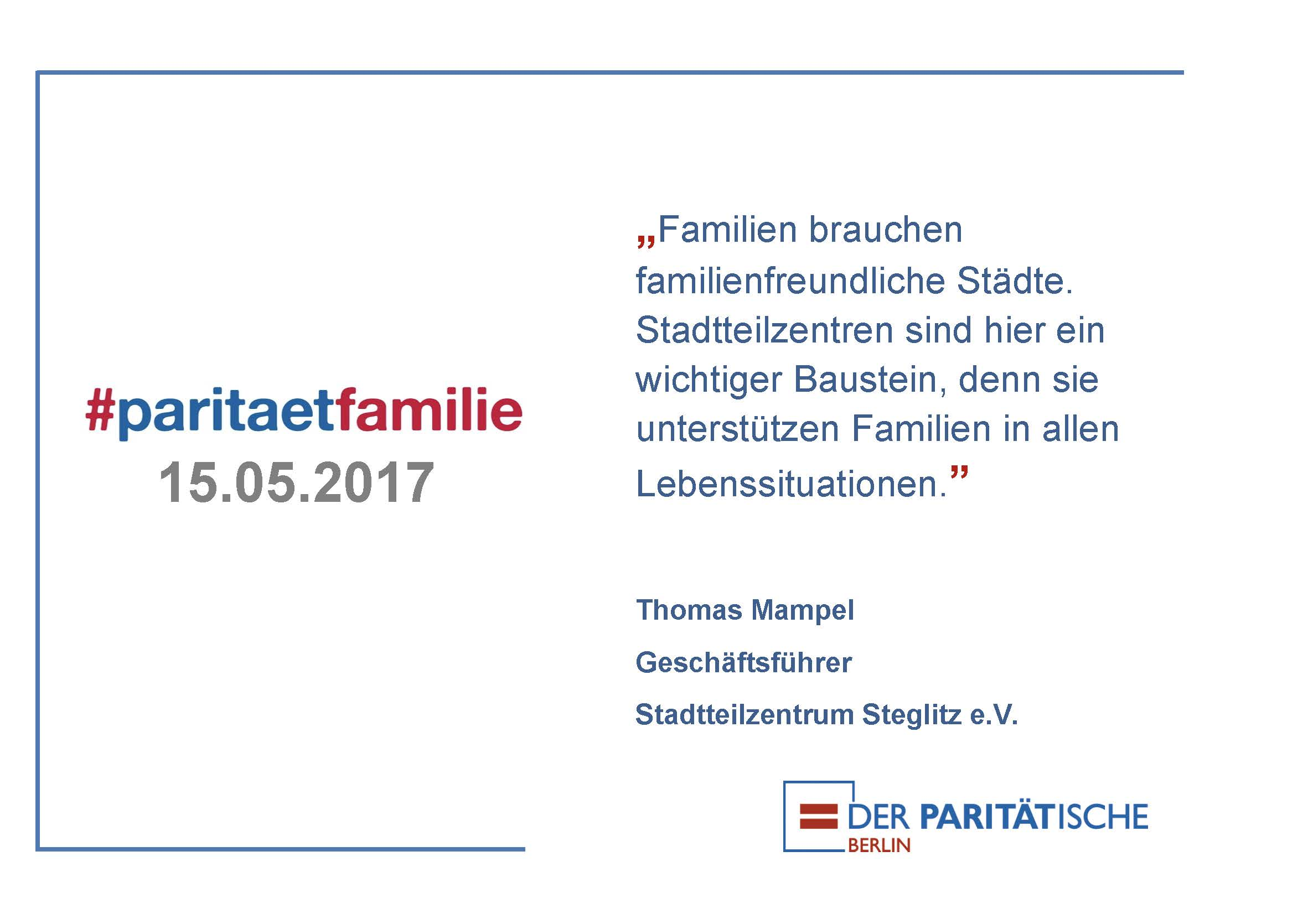 #paritätfamilie – Internationaler Tag der Familie