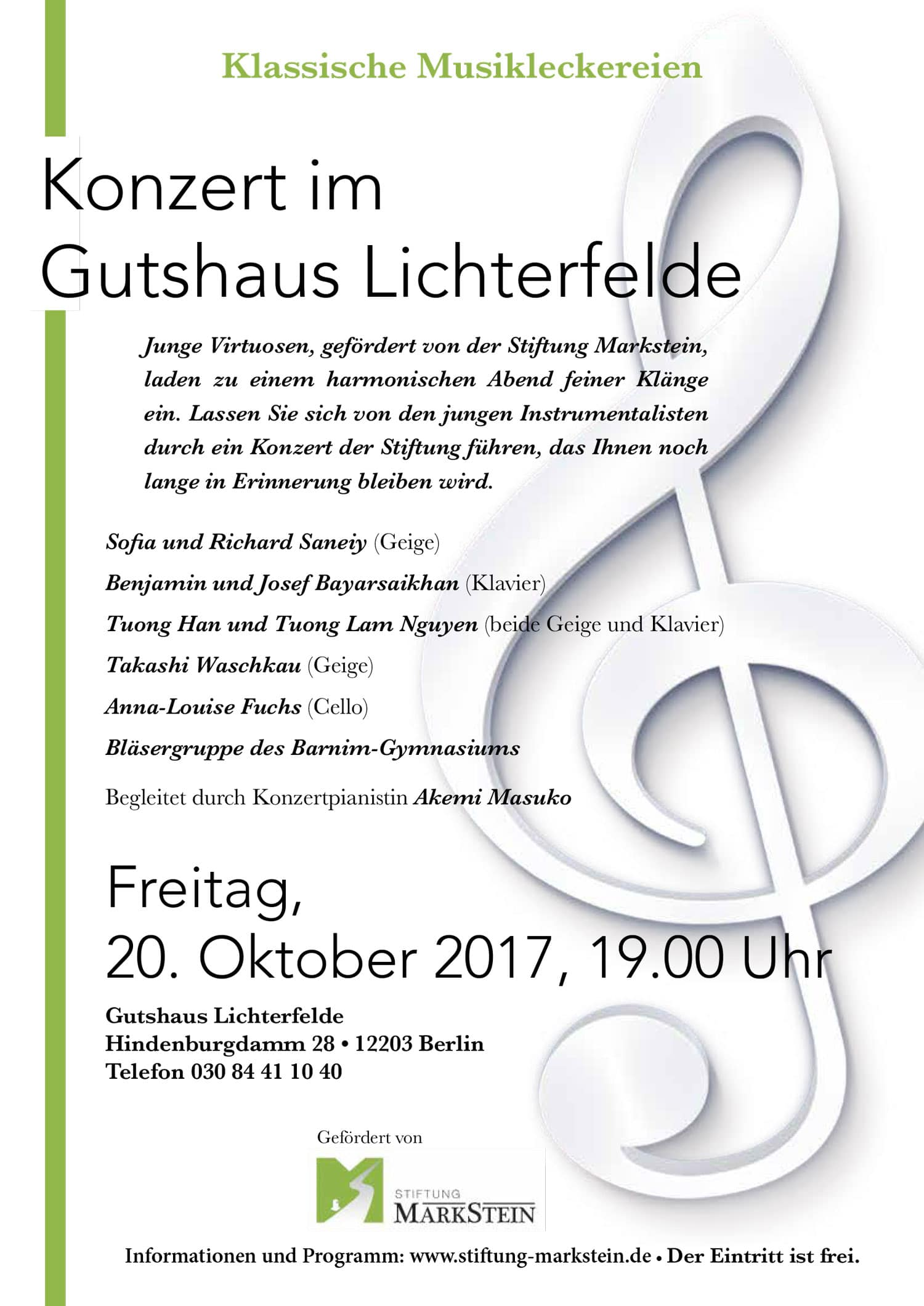 Konzert im Gutshaus Lichterfelde