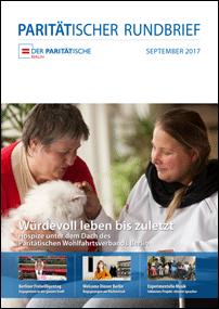 """""""Würdevoll leben bis zuletzt – der Paritätische Rundbrieft 3/2017"""