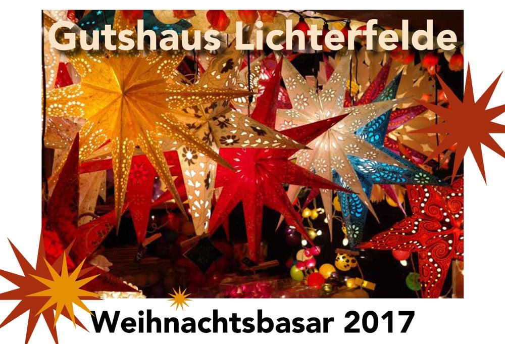 Weihnachtsbasar 2017 im Gutshaus Lichterfelde