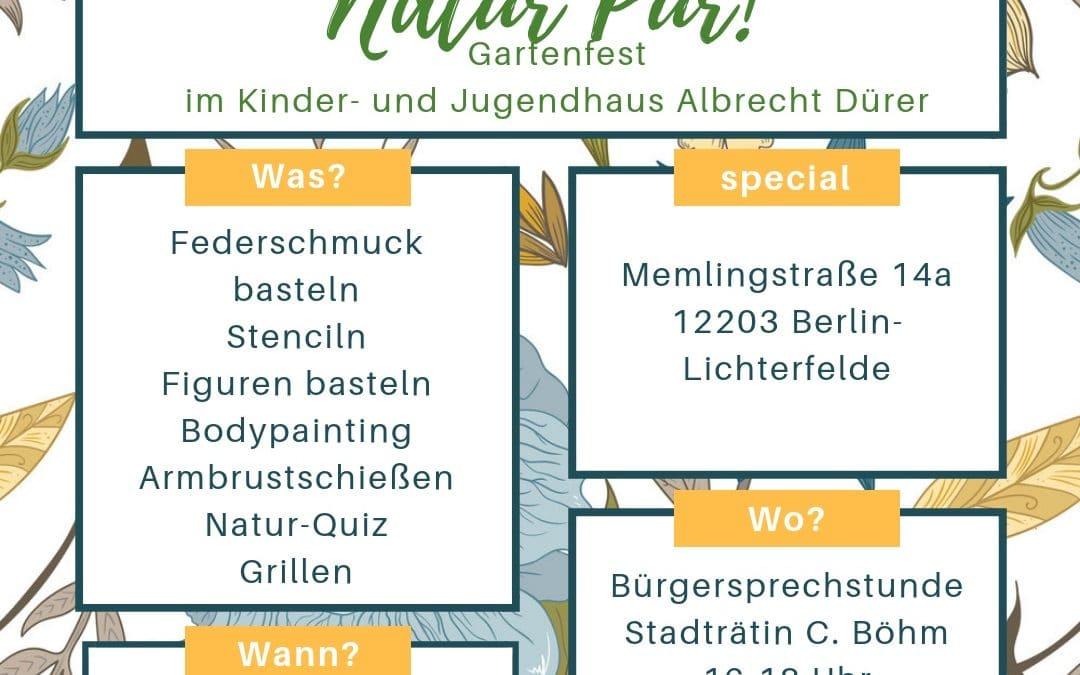 Natur pur! EinGartenfest in der Memlingstraße