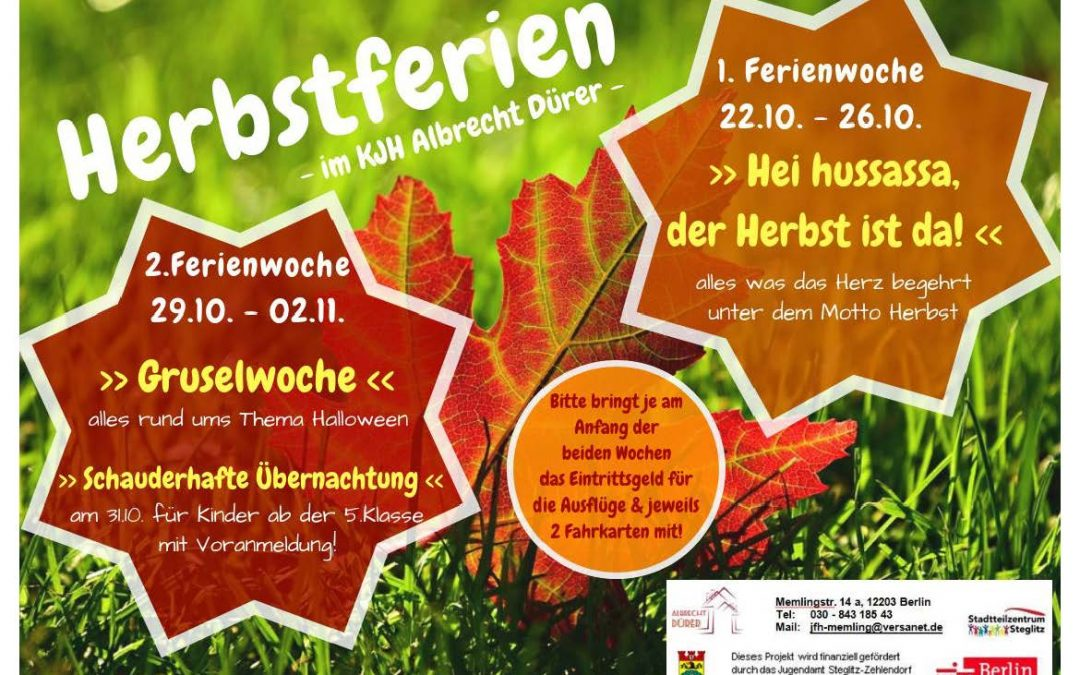 Kinder und Jugendhaus Albrecht Dürer – Herbstferien in Berlin