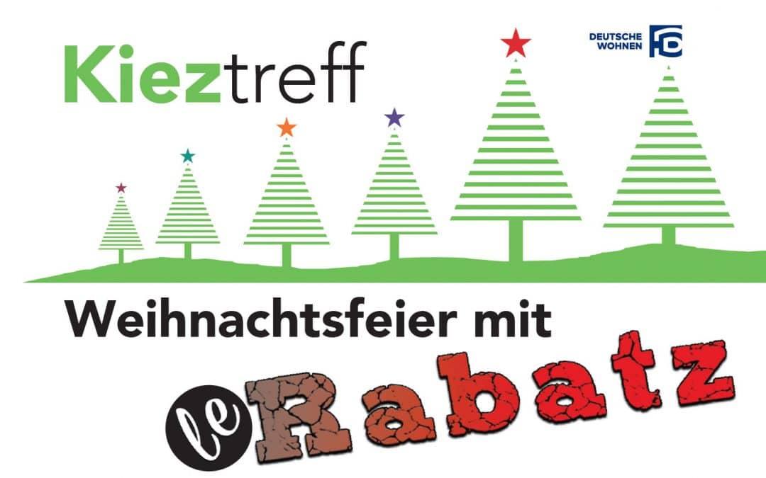 Weihnachtsfeier mit leRabatz im Kieztreff