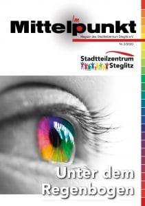 """Titelseite Magazin """"Im Mittelpunkt"""" - Unter dem Regenbogen"""