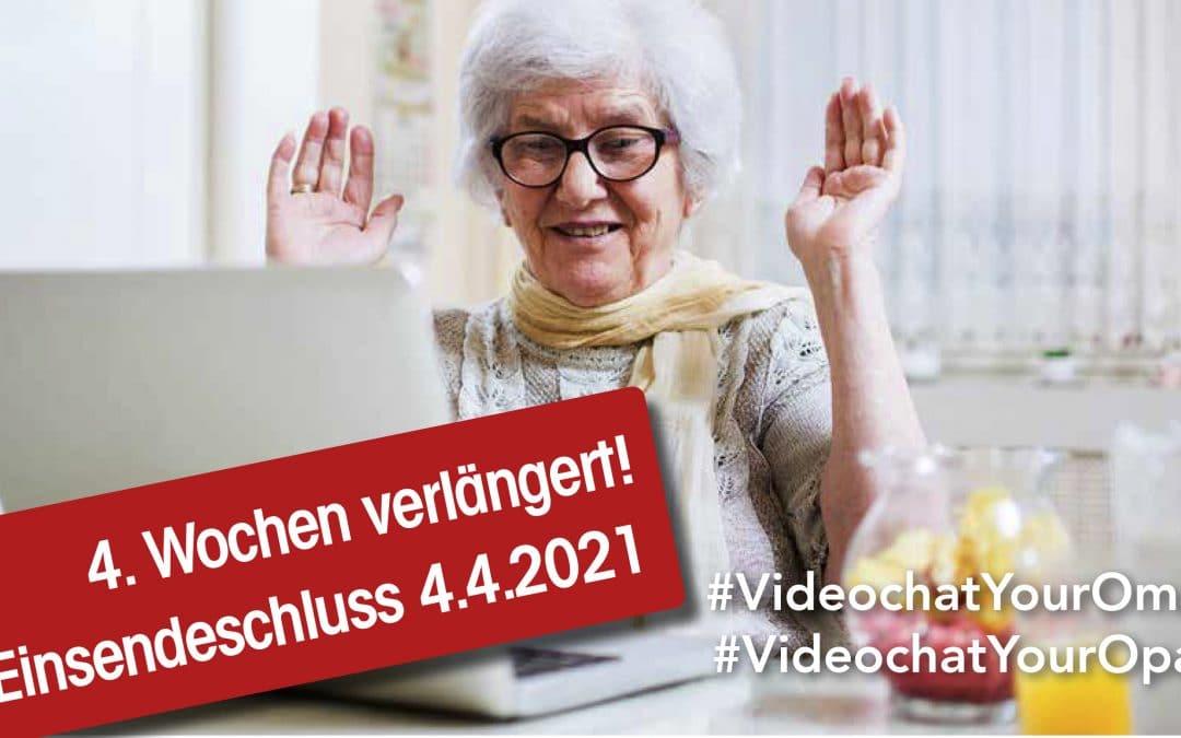 Wettbewerb: #VideochatYourOma – #VideochatYourOpa – bis 4.4.2021 verlängert!
