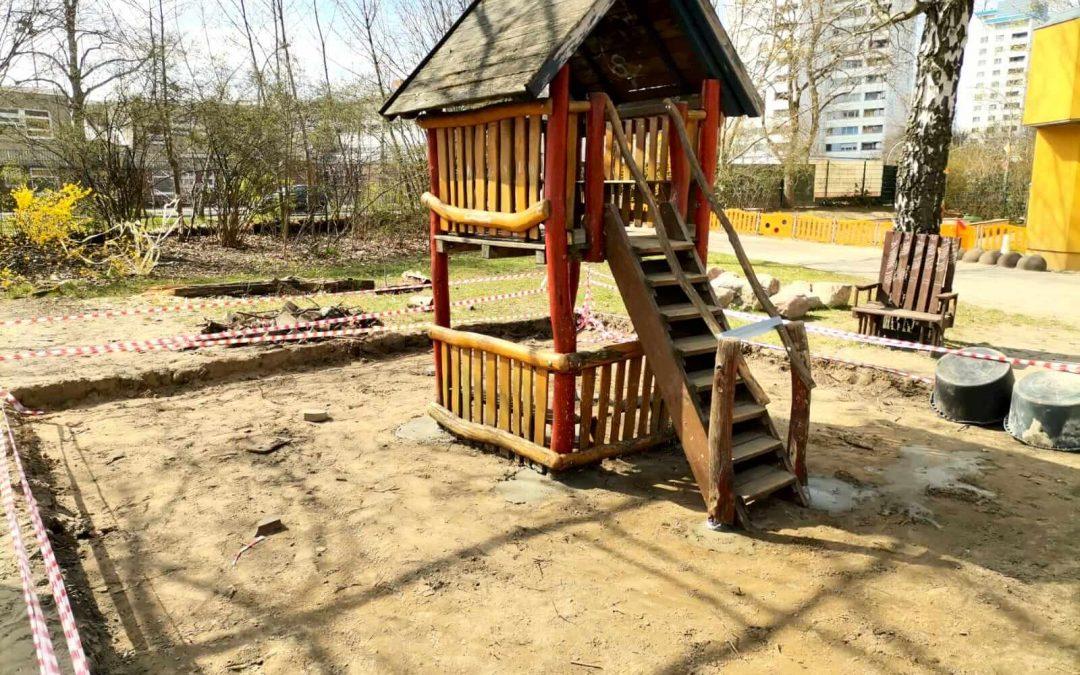 Der gemeinsame Garten der Lichterfelder Strolche und des KiJuNa wird neu gemacht